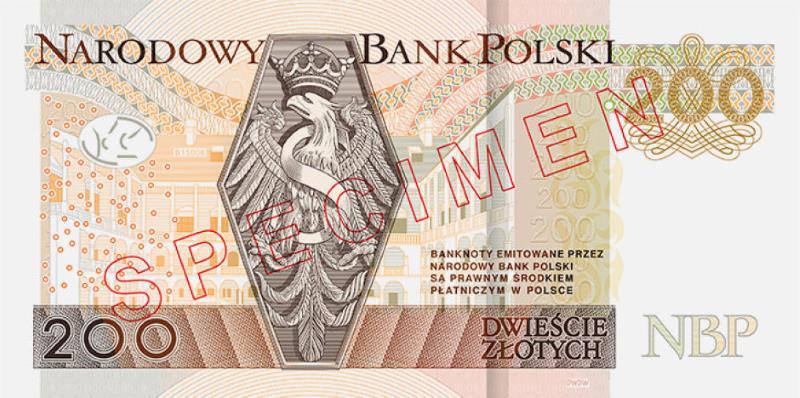 Nowy banknot 200 zł rewers