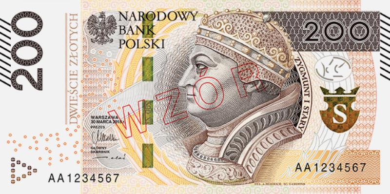 Nowy banknot 200 zł awers