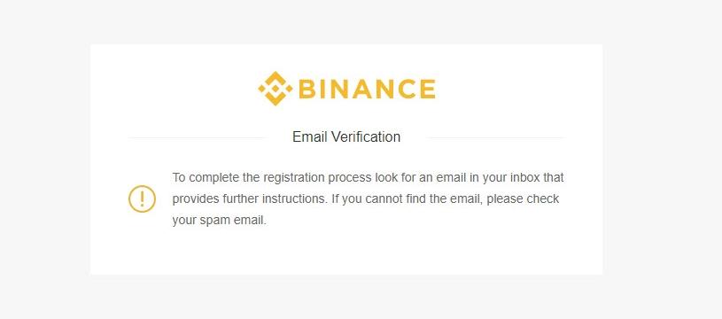 jak założyć konto na binance potwierdzenie emaila