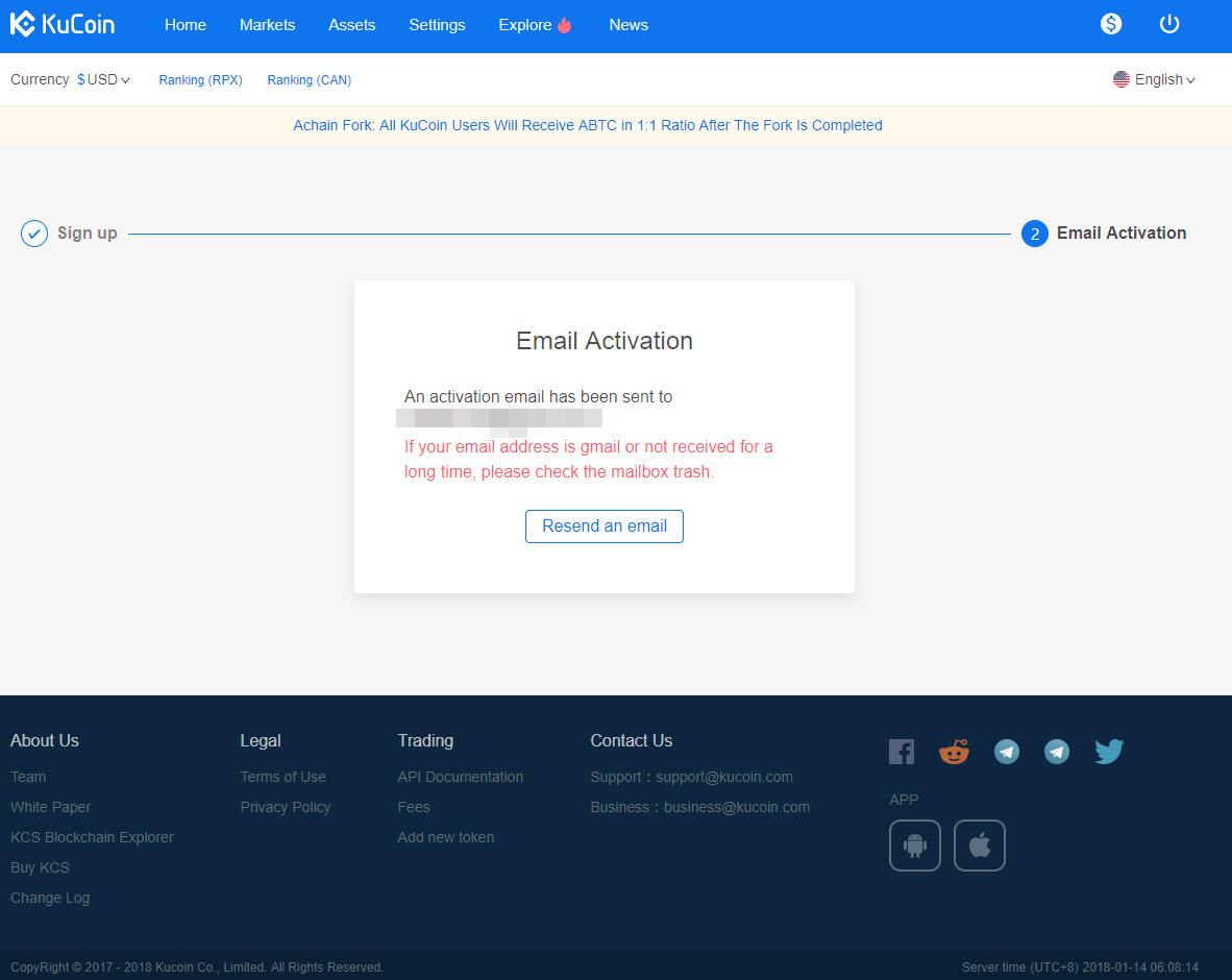 jak zarejestrować konto na KuCoin