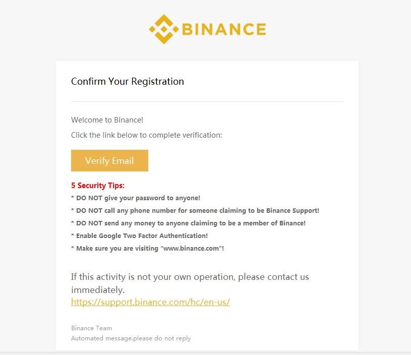 potwierdzenie maila binance